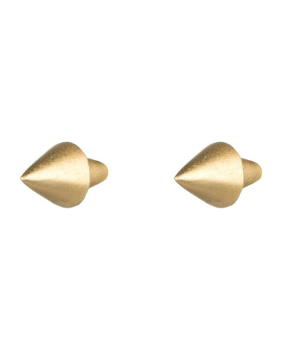 Eddie Borgo Matte Yellow Gold Plated Cone-Stud Earrings