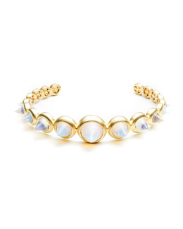 Eddie Borgo Opalescent Glass Cone Spike Cuff Bracelet