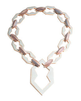 Eddie Borgo Peaked Rose Gold Plated Link Necklace