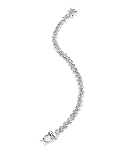 Eddie Borgo Rhodium Plated Pave Crystal Mini Cone Bracelet