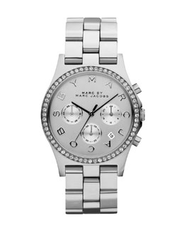 MARC by Marc Jacobs 40mm Henry Chronograph Watch, Stainless