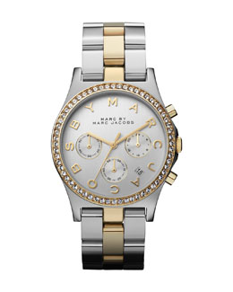 MARC by Marc Jacobs 40mm Henry Chronograph Watch, Two-Tone