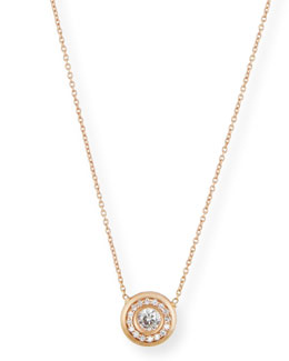 Roberto Coin 18k White Gold Pave Diamond Pendant Necklace