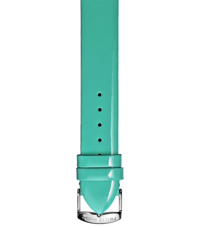 Philip Stein 18mm Patent Leather Strap, Green