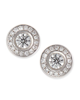 Roberto Coin 18-karat White Gold Diamond Stud Earrings
