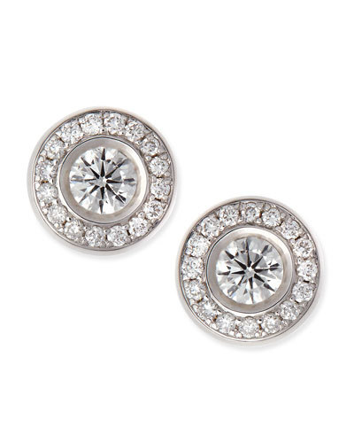 18-karat White Gold Diamond Stud Earrings