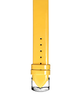 Philip Stein 18mm Patent Leather Strap, Yellow