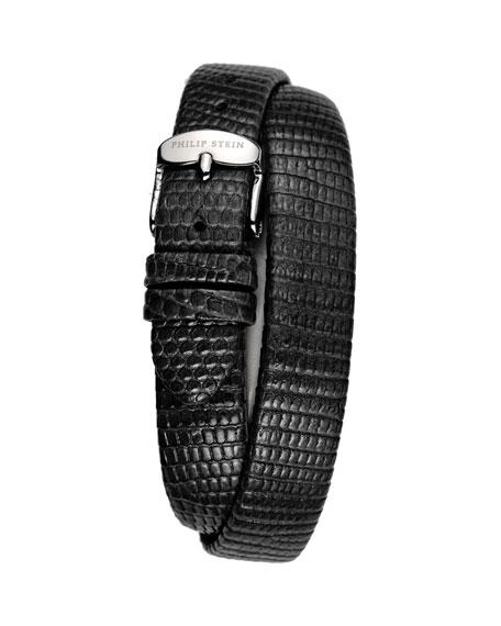 12mm Lizard Double-Wrap Strap, Black