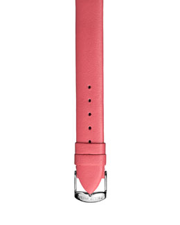 Philip Stein 12mm Leather Strap, Salmon
