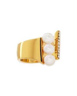 Vita Fede Lia Triple Pearl Ring