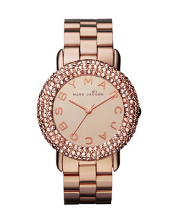 MARC by Marc Jacobs Marci Pave Crystal Rose Golden Analog Watch