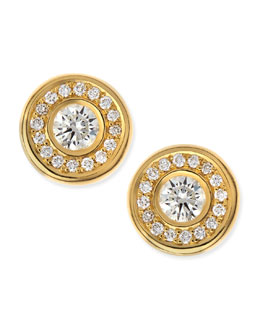 Roberto Coin 18-karat Yellow Gold Diamond Stud Earrings