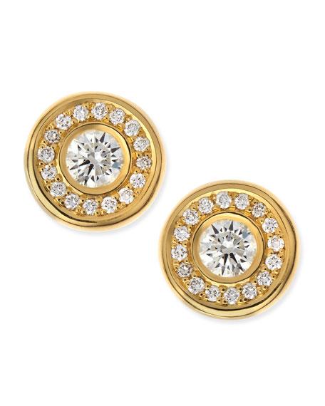 18-karat Yellow Gold Diamond Stud Earrings