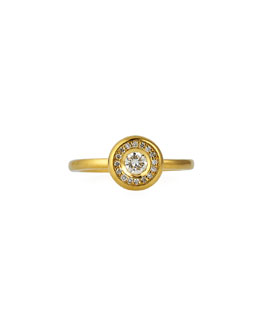 Roberto Coin 18k Yellow Gold Pave Diamond Ring