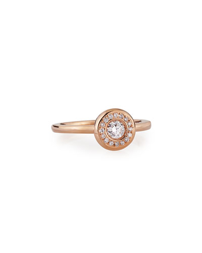18k Rose Gold Pave Diamond Ring