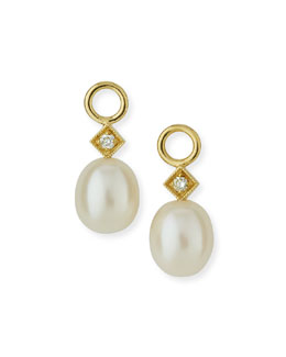 Jude Frances Jewelry Inc White Pearl Briolette Earring Charms