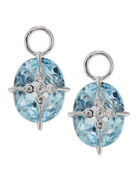 Lacey Sky Blue Topaz Earring Charms