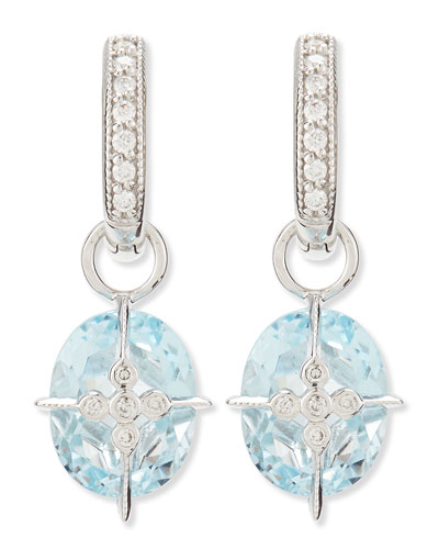 JudeFrances Jewelry Lacey Sky Blue Topaz Earring Charms