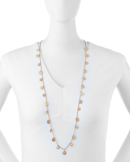Jules Smith Long Disc Necklace, Yellow Golden