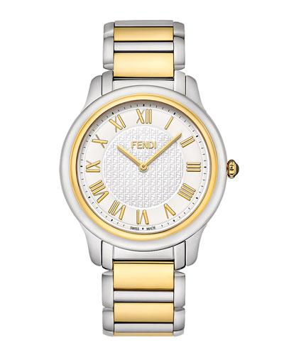 Fendi Timepieces Golden & Stainless Steel Round Classico Watch