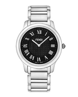 Fendi Stainless Steel Round Classico Watch