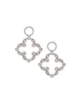 JudeFrances Jewelry Open Marquise Pave Diamond Clover Earring Charms