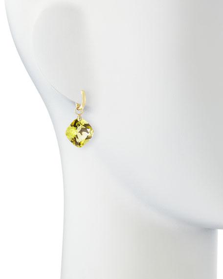 Large Lemon Citrine Earring Charms