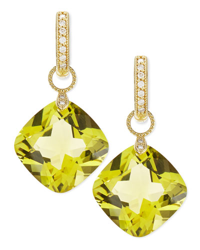 JudeFrances Jewelry Large Lemon Citrine Earring Charms