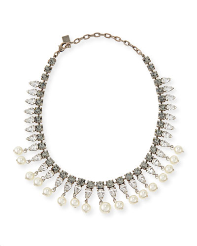 Dannijo Alta Pearly Crystal Necklace