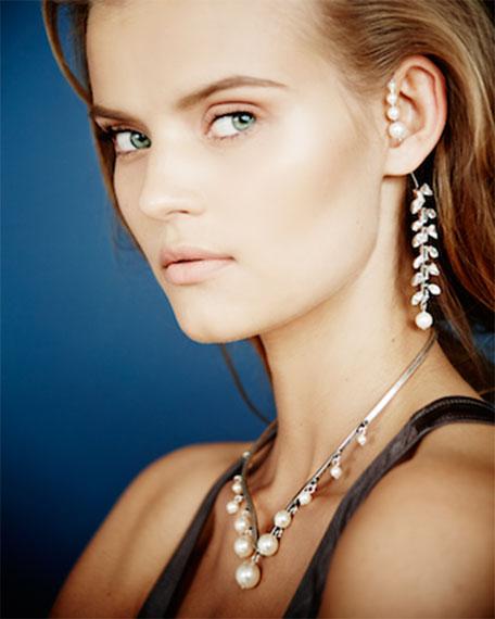 Ellery Simulated Pearl & Crystal Earring Jacket