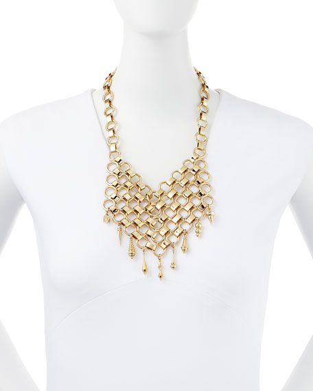 Thor Golden Bib Necklace