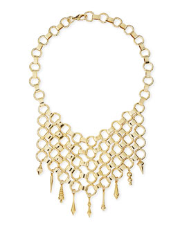 Dannijo Thor Golden Bib Necklace