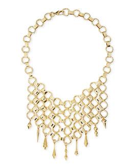 Dannijo Thor Golden Bib Necklace