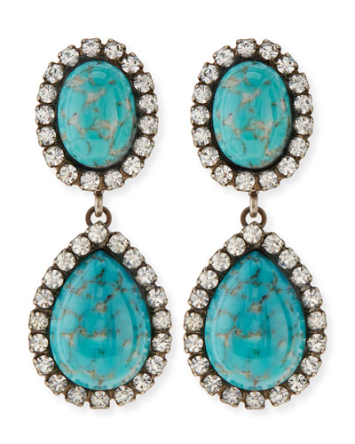 Dannijo Cash Turquoise Drop Earrings