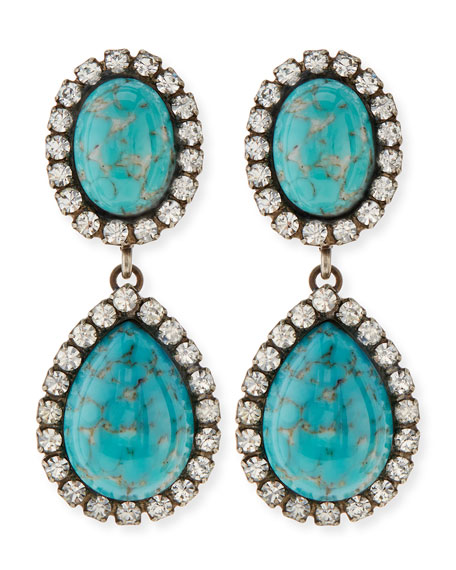 Cash Turquoise Drop Earrings