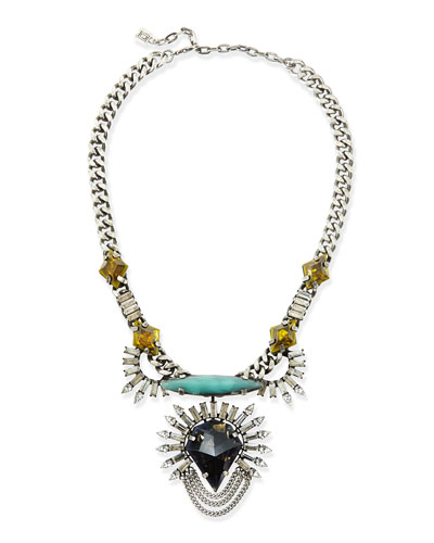 Dannijo Arley Crystal Necklace with Turquoise