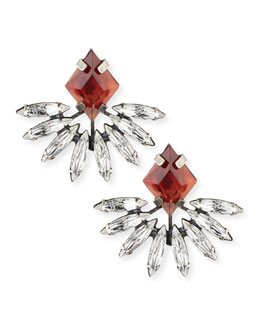 Dannijo Jovana II Red Crystal Stud Earrings
