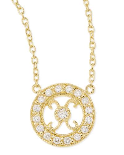 JudeFrances Jewelry Tiny Hugs & Kisses Pendant Necklace with Diamonds