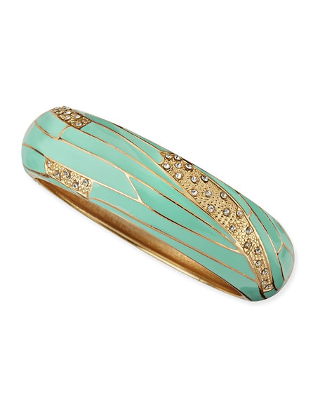 Wide Insect-Wing Bangle, Mint