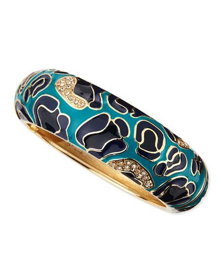 Badgley Mischka Large Camo Enamel Bangle, Blue