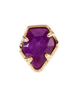 Kendra Scott Purple Jade Facet Charm