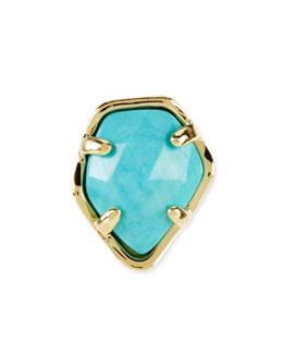 Kendra Scott Turquoise Magnesite Facet Charm