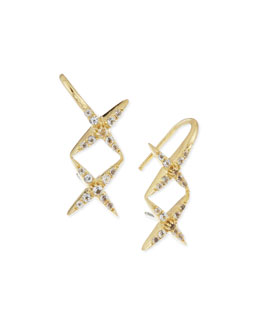 Elizabeth and James Vida Ear Cuffs with White Topaz