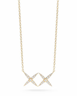Elizabeth and James Vida Pave White Topaz X Necklace