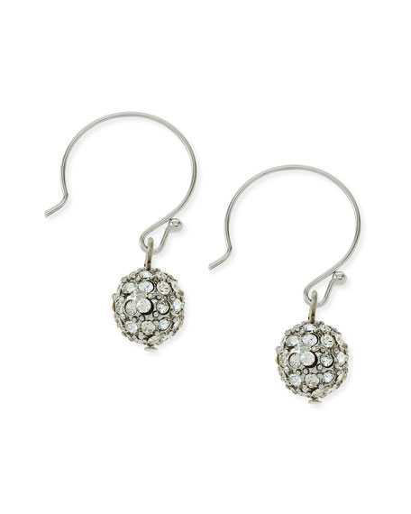 Pave Crystal Ball Drop Earrings