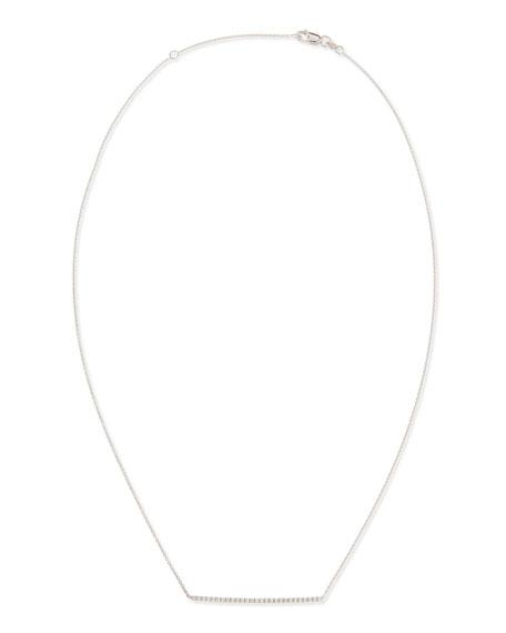 Roberto Coin 18k White Gold Diamond Bar Necklace