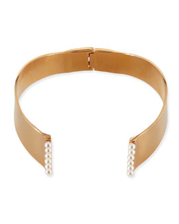 Vita Fede Lia 24k Gold-Plated Pearl Choker Necklace