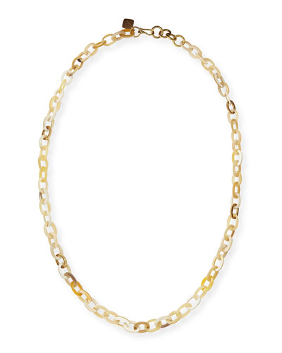 "Ashley Pittman Mini Mara 36""L Necklace, Light Horn"