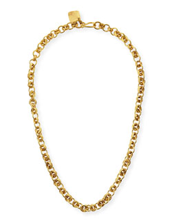 Ashley Pittman Mini Chain Bronze Necklace, 21""