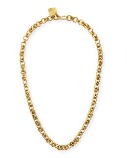 "Ashley Pittman Mini Chain Bronze Necklace, 21"""